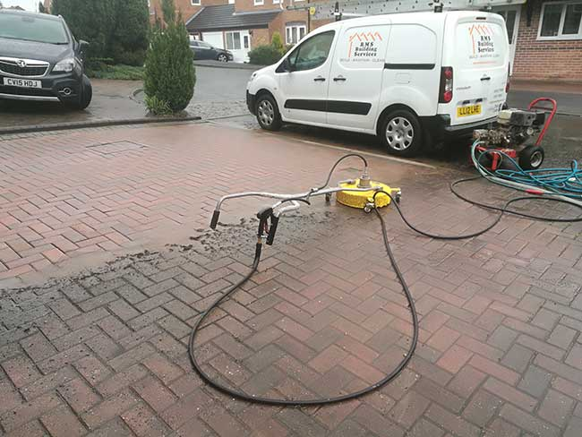 RMS Building Services Van and Drive Pressure Washer