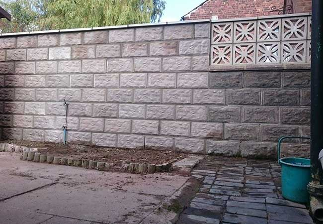 Dividing garden wall extended to create more privacy for the customer at a job in Kimberley, Nottingham