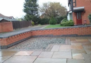 Front garden wall built in Colwick, Nottingham