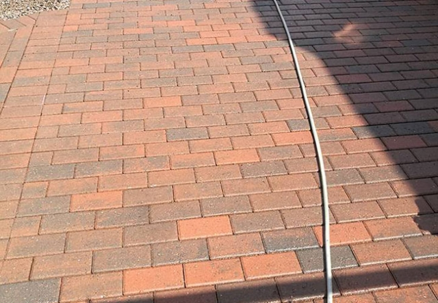 Driveway cleaned and resanded in Awsworth, Nottingham (after)