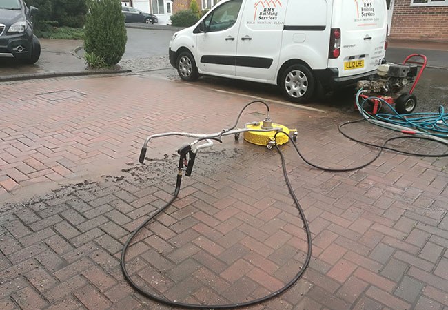 Driveway clean midway though clean in Giltbrook, Nottingham