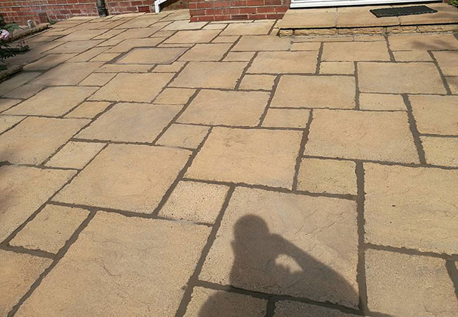 A Patio we repaired, cleaned and repointed on a job in Keyworth, Nottingham (after)