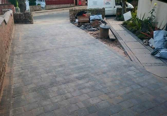 A driveway installed for a job in Carlton, Nottingham
