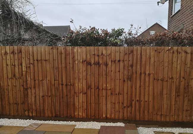 Featheredge fencing created on a job at Awsworth, Nottingham