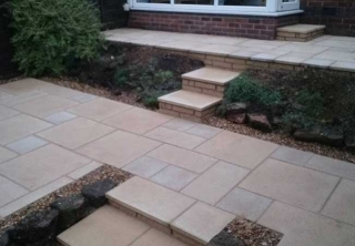 Patio laid in Carlton, Nottingham